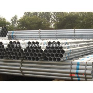 BS 1387 erw galvanizado stee pipe