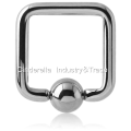 316L Surgical Steel Suqare Ball Closure Ring