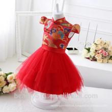 Vestido de noiva infantil exclusivo e respirável vestido de festa vestido ED586
