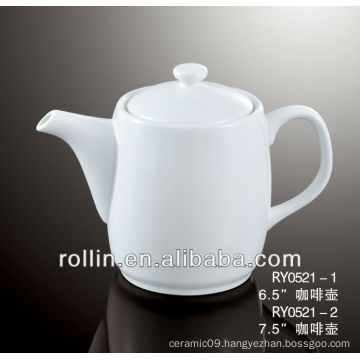 500ml Guangzhou hotel and restaurant supplier white elegant coffee pot wholesale