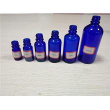 5ml, 10ml, 20ml, 30ml, 50ml, bouteille d'huile essentielle de verre de couleur liquide de couleur bleue de 100ml (klc-1)