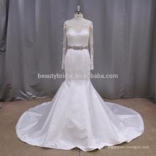 AK048 robe de tache unique avec une robe de mariée à manches longues alibaba 2017