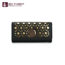 HEC pas cher prix design de mode femmes portefeuille PU PVC dames d'embrayage bourse