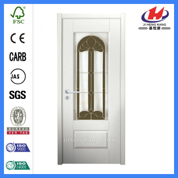 *JHK-G05 White Interior Glass Panel Door Interior Doors With Glass Glass Louvre Door