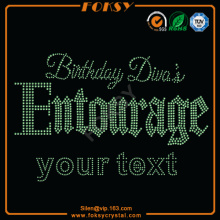 Brithday Divas Entourage Your Text hot fix motif