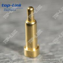 SMT Pin Pogo con un solo contacto, cargado con muelle, chapado en oro