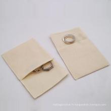 Impression personnalisée de pochettes de cadeau de bijoux de sac de 100% de coton