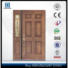 puerta de panel de fibra de vidrio con cerradura de control remoto eléctrico