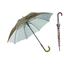Parapluie droit automatique d'impression de peau d'animal (YS-SA23083927R)