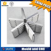 Processamento de peças do radiador de liga de alumínio, controle numérico de liga de alumínio Usinagem CNC