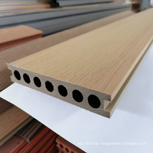 Dual coloured/double color hollow co-extrusion decking,WPC decking for outdoor,140*24mm