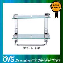 Soporte de estantería de vidrio para muebles sanitarios