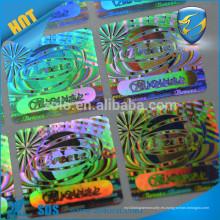 Etiquetas engomadas de encargo coloridas del holograma de la protección de la marca de fábrica