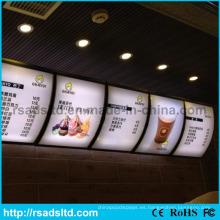 Restaurante Light Box Menu Board de China