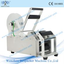 Machine à étiquettes manuelle semi-automatique de bouteille ronde