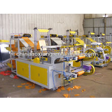 Computer control rolling T-shirt & flat bag making machine flower bag making machine