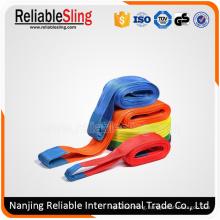 Cargo Lifting Rigging Hardware Polyester Flat Woven Webbing Sling
