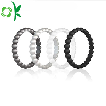 Fashion Design Silicone Wedding Bead Ring En Band