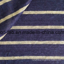 Yarn Dyed Stripe Knitted Linen Fabric (QF15-2048)