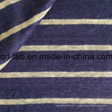 Пряжа покрашенная полосой связанная льняная ткань (QF15-2048)
