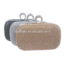 2016 Noiva Prata Evening Clutch Bag Saco Noiva Para Casamento Evening Party Use Bridal Handbags B00006 padrão de bolsa elegante