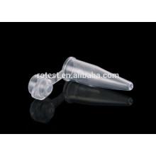 Tubo de centrífuga de tubo de 0,2 ml pcr con tapa en forma de cúpula