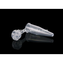 0,2 ml tube de centrifugeuse avec capuchon en forme de dôme
