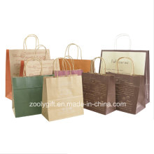 Recycle Brown Kraft Paper Gift Bag with Twisted Handle Cake Packing Carrier Bag