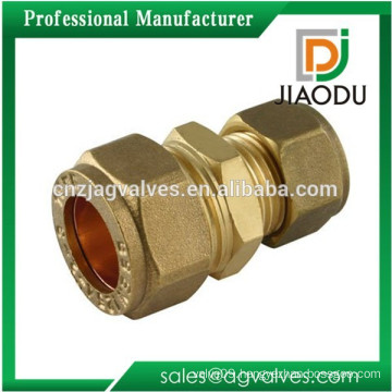 Forged Male Threaded Brass Compression Fitting Straight Reducing Coupler