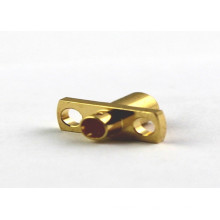 Two Holes Flange Brass MCX Cable Connector