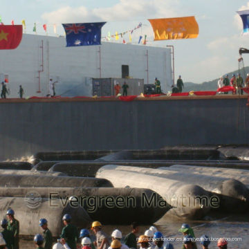 Salvage Marine Airbags, Airbags de caucho para lanzamiento de buques, Airbags de levantamiento pesado