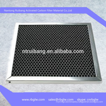 manufacturing high permeability stainless steel frame activated carbon filter for air