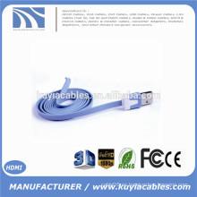 1M 3ft coloridos Flat Micro USB Sync Data & Cable de carga Cable de carga para Samsung S3 S4 para HTC Para Nokia Para teléfonos Android