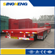 40ft Tr-Axle Container Flatbed Semi Trailer for Sale