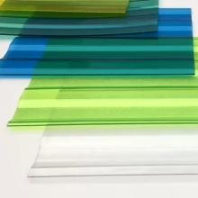 NILIN Gewächshaus UV klar Kunststoff transparent gewellt