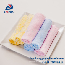 Hot Sales 6-Pack 100% Organic Bamboo Baby Soft Wash cloths-KL2017
