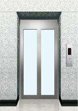 엘리베이터 유리 방문 문