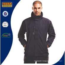Men Navy Waterproof Rain Jacket