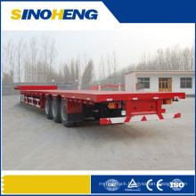 China 3 Axle Heavy Duty Flatbed Semitrailer with Trailer Jacks