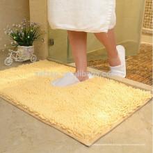 tapete de banho desgrenhado de microfibra chenille luxo banheiro