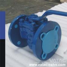 Gussstahl RF Flansch FEP / PTFE / PFA Volles Iined Plug Ventil
