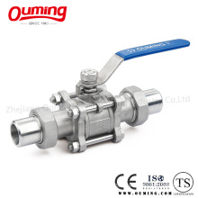 3 Piece Non-Standard Union Stainless Steel Ball Valve