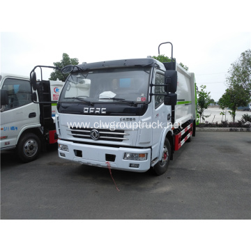 Compactor garbage truck with bin for truck