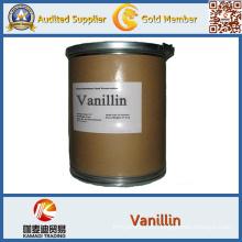 Vainillina orgánica natural y polvo de vainilla