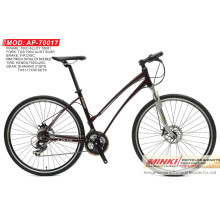 700 C Wheel Alloy Hybrid Bicycle with Shimano 21 Speed (AP-70017)