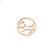 liga pingente de ouro rosa encantos top nova placa de janela moda rodada encantos