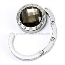 Moda cristal bolsa gancho com diamante (saco hanger-03)