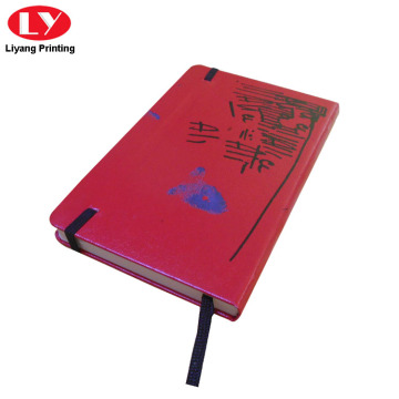 Custom Printed Red PU Brand Notebook Nama