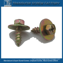 Cross Recessed Hex Head Tapping Screw with Washer
