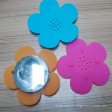 Beautiful Flowers Silicone Soap Dish Soap Mat Soap Box